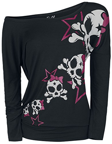 Skull Long Sleeve Tee (Full Volume by EMP Stars and Skulls Ladies Tee Girl-Longsleeve Schwarz M)