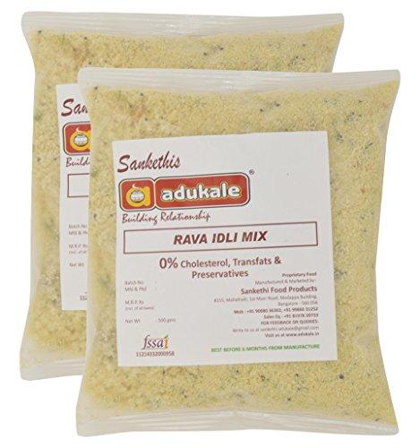 Adukale Rava Idli Mix, 500 grams (Set of 2)
