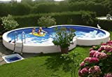 MYPOOL Achtformpool Premium, 470 x 300 x 120 cm, inkl. Bodenschutzvlies 300 cm, 470 cm, 120 cm -