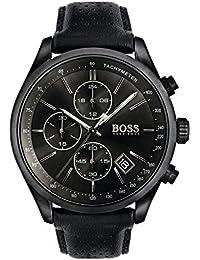 a623df3e019 HUGO BOSS 1513474 Men Chronograph Quartz Watch with Leather Strap
