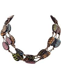 Ornamenta Fashion Handmade Multi Strand Multi Color Necklace For Girls