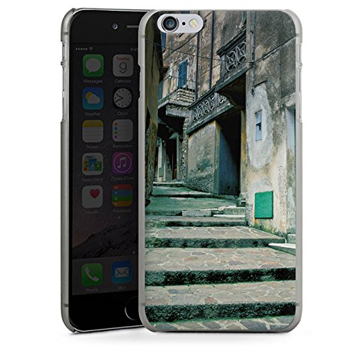 Apple iPhone X Silikon Hülle Case Schutzhülle Gasse Gebäude Treppe Hard Case anthrazit-klar