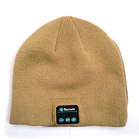 Z-P Unisex New Style Bluetooth Stereo Music Wireless Phone Music Listening Multifunction Pure Color Knitted Warm Set Head Hat