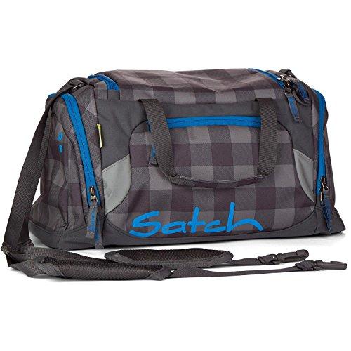 Satch Grinder borsa sportiva SAT DUF-001-216, 50 cm, 25 L, Verde Grigio (Grey Black Checks)