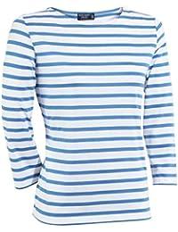 Saint James Women's T-Shirt multicolour Neige/Bleu Faien