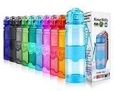 HoneyHolly Sport Trinkflasche 400/500ml/700/1L-BPA frei auslaufsicher/Für Gym,Laufen,Yoga,Camping,Outdoor,Männer, Frauen,Kinder-Tritan Sporttrinkflaschen kohlensäure geeignet Kunststoff mit Filter
