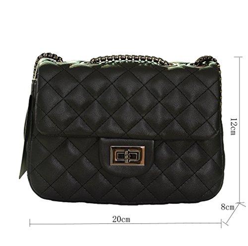 Bag Salon-UK, Borsa a spalla donna, Black (nero) - L302 Black
