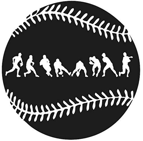 (Wandaufkleber Fielder Action Wanddekoration Baseball Poster Berühmte Sport Spielzimmer Poster Entfernbare Wandbild57X57 CM)