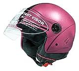 #4: Jmd Helmets Open Face Purple Color Helmet (M) Size)