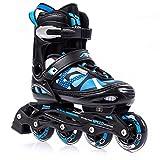Meteor Inline Skates Children's Kids Inliners Roller Skates Roller Blades ABEC 7 Carbon