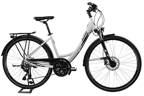 KTM Damen Fahrrad 28 Zoll Veneto Light Disc Trekkingrad - 30 Gänge, Shimano Schaltung, Suntour Federgabel, Nabendynamo (Disc-trekkingrad)
