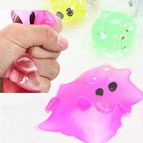 Lanspo Squeeze Toy Anti-Stress Spielzeug Dekompression Splat Ball Vent Toy Smash Verschiedene Stile Schwein Spielzeug für Kinder & (Anzug Raum Für Kinder)