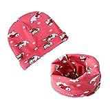 HAPPY CHERRY Baby Kinder Mütze Schal Set Mädchen Jungs Loop Schal Hüte Stricken Cartoon Kappe Schal Dehnbare Babybekleidung