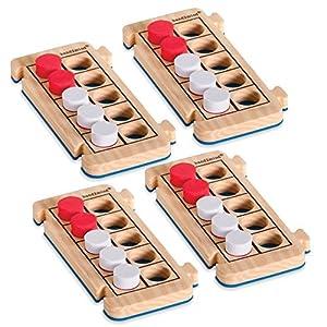 Pack de 4 cuadrículas de diez casillas de espuma Rekenrod de Learning Resources