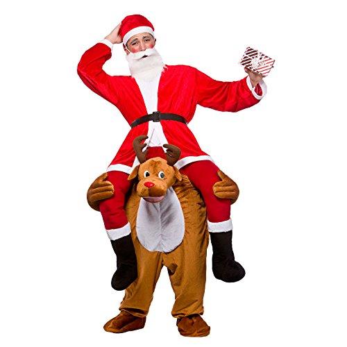 Adults Carry Me Reindeer Christmas Fancy Dress -