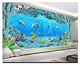 Fototapete Dekor Wallpaperbenutzerdefinierte Hd Große Unterwasserwelt Korallen Loch 3D Wohnzimmer Tv Hintergrund Wand Aquarium Werbe Tapete, 200 Cm X 140 Cm