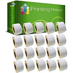 20 x Zebra 100mm x 50mm Etiquetas para Zebra Type Impresoras/1000 Etiquetas por Rollo/Térmica Directa