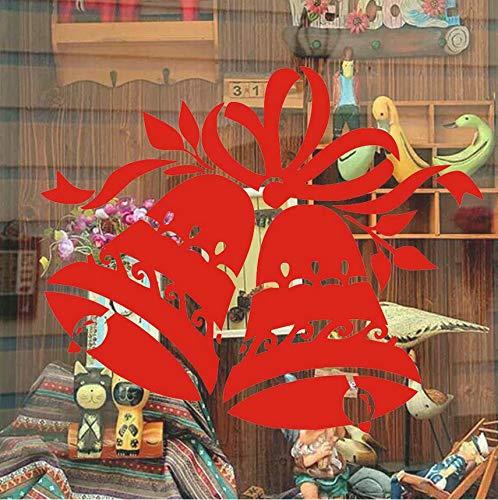Ljtao Weihnachten Big Bell Wandbild Removable Wall Sticker Sock Hut Geschenke Box Wandtattoos Weihnachtsdekoration Wohnaccessoires Wand Decor71X59Cm (Hut Big Santa)