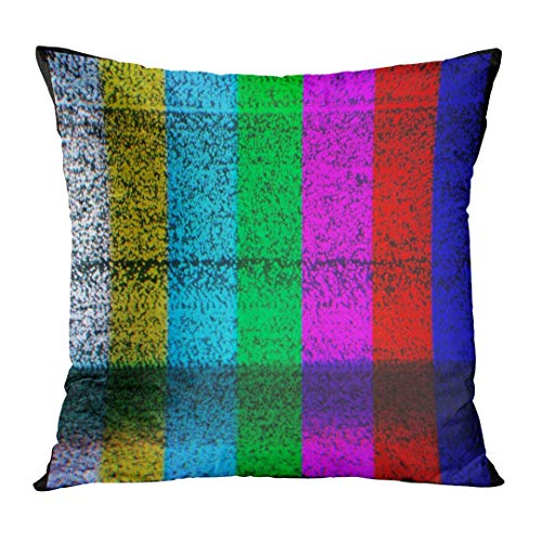 Yuerb Kissenbezüge Static Color TV with No Signal Screen Test Decorative Pillow Case Home Decor Square 18x18 Inches Pillowcase