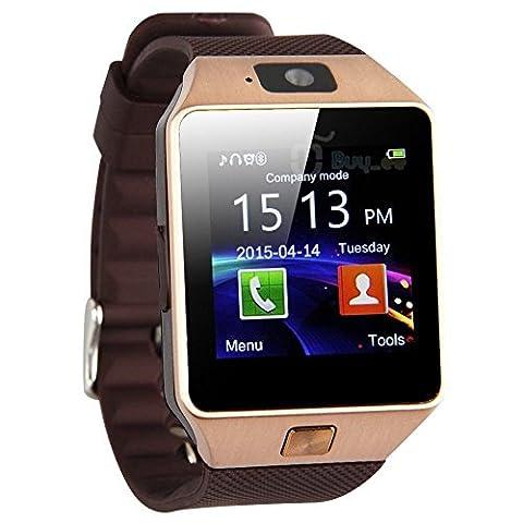 LeaningTech DZ09 Bluetooth Smartwatch Handy-Uhr Kamera SIM-Karte für Android Phone und iPhone Musik Videoplayer SMS