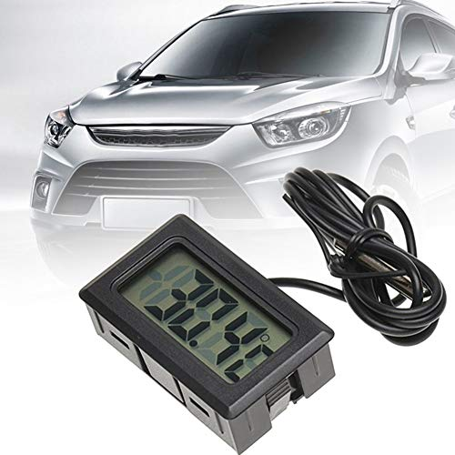 Milnnare Auto Innenraum Thermometer Digital LCD Anzeige Aquarium Temperatur Messinstrument-Schwarz