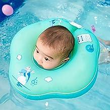 FOONEE Anillo De Baño para Bebés Piscina Flotador, Bebé Inflable Ajustable Anillo De Flotación Anillo
