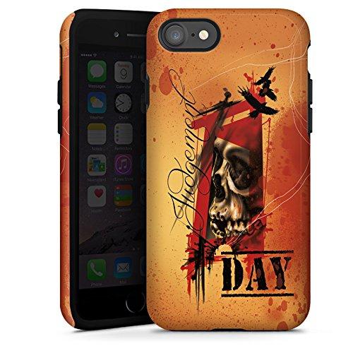 Apple iPhone X Silikon Hülle Case Schutzhülle Tattoo Orange Rock n Roll Tough Case glänzend