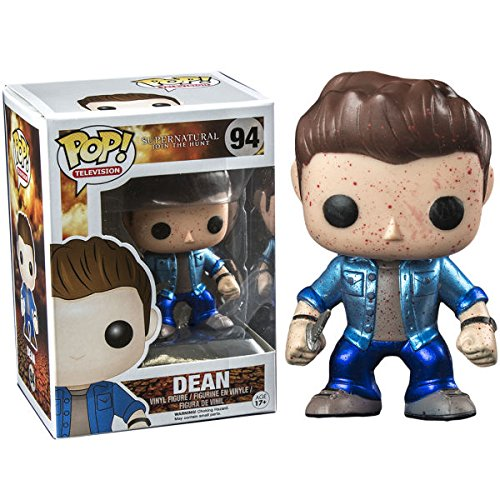 Funko - Figurine Supernatural - Dean Blood Splatter Metallic Exclu Pop 10cm - 0849803043100