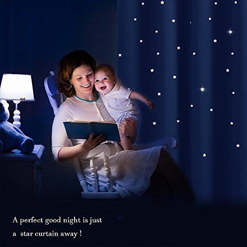 PONY DANCE ausgestanzt Sterne Verdunkelungsvorhänge mit Ösen, blinkt für Kinderzimmer, Schlafzimmer, 1 Paar - 4