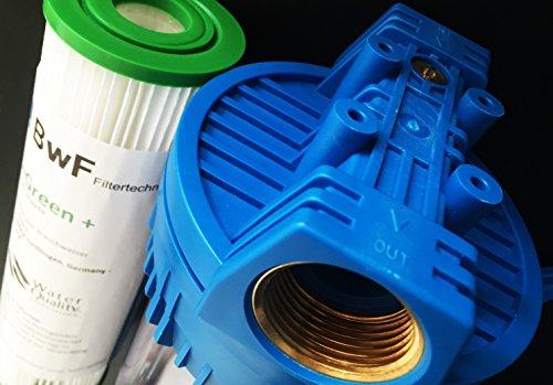 BWF ORIGINAL NANO – SET 10 Zoll mit 1″ Anschluß Filtergehäuse + 1x IHRE WAHL der FEINHEIT Mikron Membrankartusche (NANO beschichtet) hervorragend auswaschbar! Mehrwegkartusche, GEHÄUSE – als Schmutz Wasser Vorfilter für Wasserfilter , Umkehrosmose Anlage Hauswasserwerk Brunnenwasser Garten Pool (0,22µ) - 4