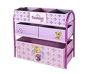 My Note Deco - 064562 - Ameublement Et Décoration - Etagère À Casier Textiles - Fashion Girl
