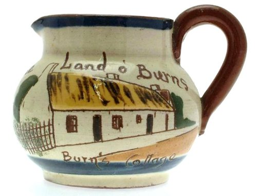Vintage Watcombe Pottery Motto Ware Creamer Burns Cottage Tak A Little Cream Frae Land O Burns A/f - Clt611