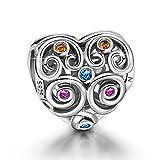 NINAQUEEN Ewige Liebe Damen Charms 925 Sterling Silber Nickelfrei Beads Bead fur pandora charms armband geschenke fur frauen muttertagsgeschenke Weihnachtsgeschenke valentinstag geschenk
