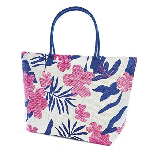 Socks Uwear , Damen Schultertasche Pink-Blue Flora