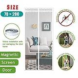 LXXTI Zanzariera Magnetica Porta Balcone, 70x200cm,Zanzariere Magnetica per Finestre Estensibile per Finestra,Chiude da Sola, Impedendo agli Insetti di Entrare