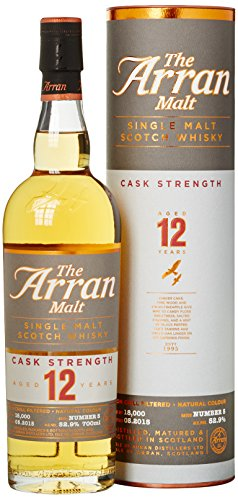 Arran The 12 Years Old Cask Strength Batch No. 5 mit Geschenkverpackung Whisky (1 x 0.7 l)