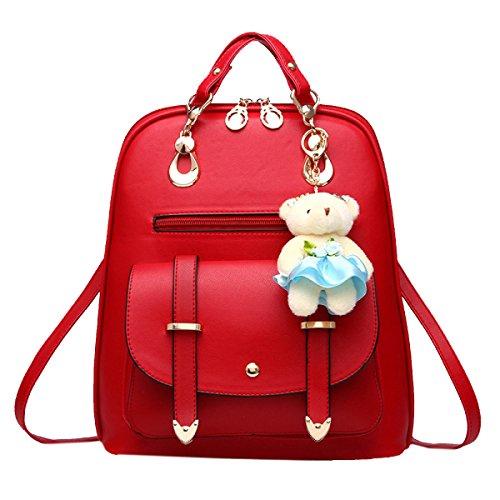 Yy.f Nuova Spalle Femminili Zaino Borse Moda Sacchetto Delle Signore Del Vento College Borsa Da Viaggio Multicolore Red