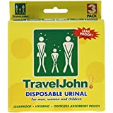 Travel John Disposable Urinal Pack of 3
