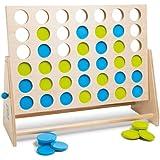 BuitenSpeel GA279 - Spiel, Vier gewinnt Deluxe aus Holz, grün/blau