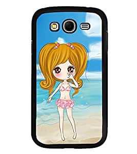 Vizagbeats Animated Girl Beach Background Back Case Cover For Samsung Galaxy Grand I9082