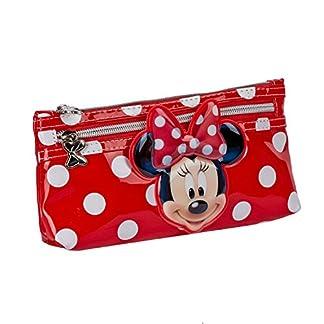 Portatodo Minnie Disney White Dots doble cremallera