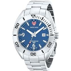 Swiss Eagle SE-9015-33 Mens Torpedo Silver Steel Bracelet Watch