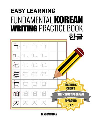 Easy Learning Fundamental Korean Writing Practice Book