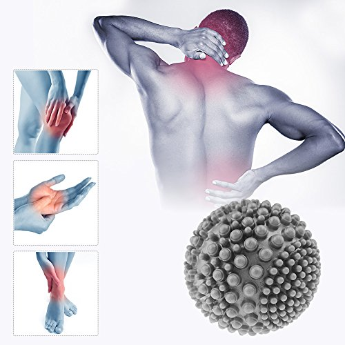 Spiky Massage Ball, Sport Massage Ball Physiotherapie Massage Ball Deep Tissue Massage, Triggerpunkt Therapie, myofaszialer Release & Plantarfasziitis für Füßen, Rücken, Muskeln, Plantar Behandlung - Kompressions-pumpe-therapie