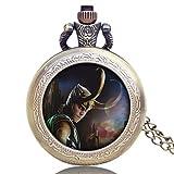 Vengadores Loki - Reloj de Bolsillo para Hombre, diseño de Aventura clásica, Cuarzo, Regalo para Hombres