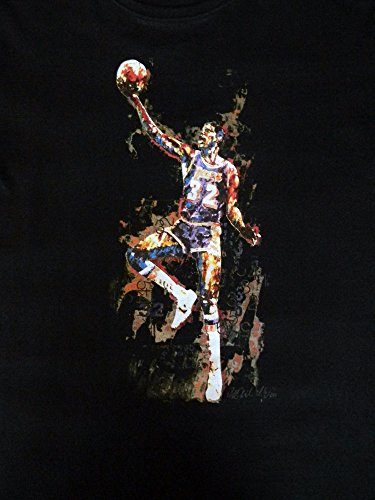 Sidney Maurer Magic Johnson, Herren T-Shirt, Basketball Schwarz