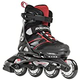 Rollerblade Spitfire Jr XT 2016 Kinder Skate, Herren, 07630300741 23.0, schwarz/rot, Adjustable (5 to 8)