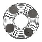 Adventskranz Metall Ø 33,5 cm Silberfarben / Weihnachtskranz, Deko, 4 Kerzen