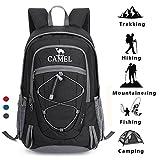 CAMEL CROWN Wandern Rucksack leichte Reise Packable langlebig wasserdicht Sport Daypack, für Camping Angeln Reise Radfahren Skifahren Blau