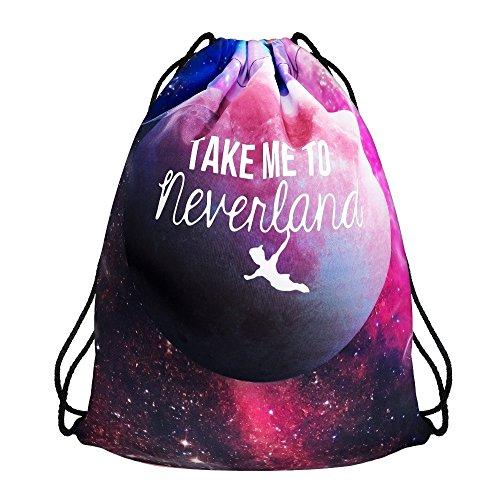 Modefreund Turnbeutel Sport & Freizeit Motiv Bag TrendPrints Gymsack - Neverland